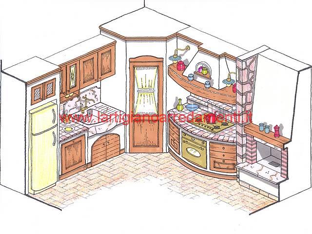 Progetti Per Cucine In Muratura. Cucine Rustiche Moderne Cucina ...