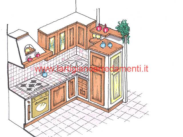 Best Progetto Cucina Muratura Pictures - Schneefreunde.com ...