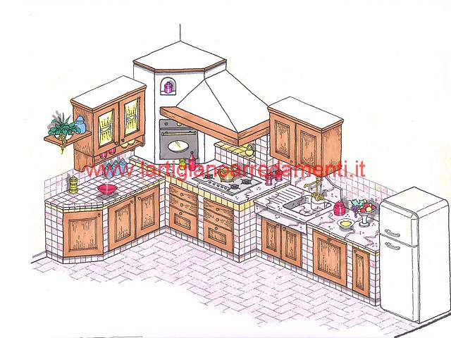Progetti Cucine In Muratura